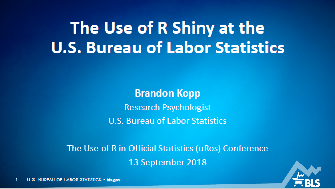 The R Project - The Use of R in Official Statistics - uRos2018